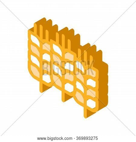 Bakery Pretzel Tasty Food Icon Vector. Isometric Salty Or Sweet German Traditional Pretzel Delicious
