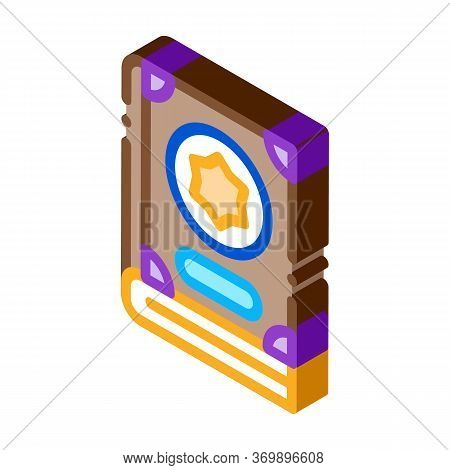 Wizard Book Icon Vector. Isometric Wizard Book Sign. Color Isolated Symbol Illustration