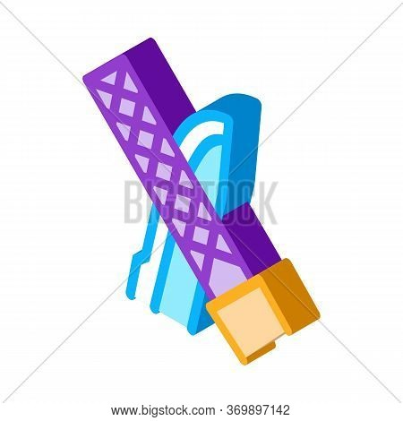 Blade Sharpening Icon Vector. Isometric Blade Sharpening Sign. Color Isolated Symbol Illustration