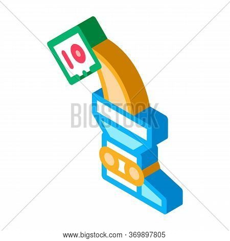 Adding Ingredient Icon Vector. Isometric Adding Ingredient Sign. Color Isolated Symbol Illustration