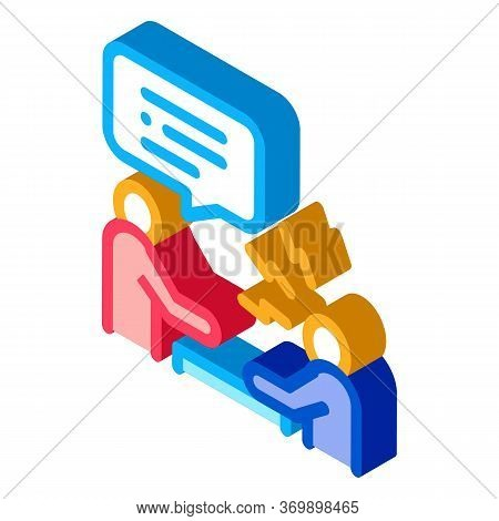 Verbal Battle Icon Vector. Isometric Verbal Battle Sign. Color Isolated Symbol Illustration