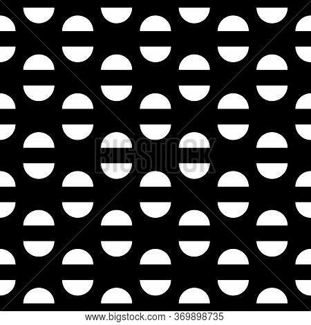 Semicircles Seamless Pattern. Geometrical Background. Ethnic Ornament. Folk Wallpaper. Tribal Motif.