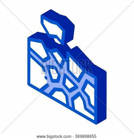 Fence Construct Icon Vector. Isometric Fence Construct Sign. Color Isolated Symbol Illustration