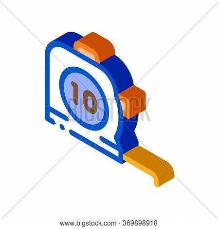 Reel Meter Tool Icon Vector. Isometric Reel Meter Tool Sign. Color Isolated Symbol Illustration