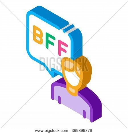 Human Talking Bff Icon Vector. Isometric Human Talking Bff Sign. Color Isolated Symbol Illustration