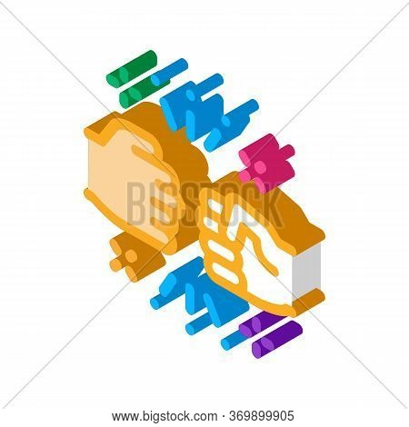Friend Fist Bump Icon Vector. Isometric Friend Fist Bump Sign. Color Isolated Symbol Illustration