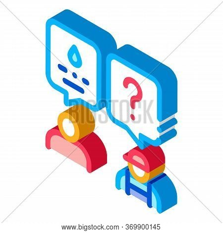 Plumber Discuss Icon Vector. Isometric Plumber Discuss Sign. Color Isolated Symbol Illustration