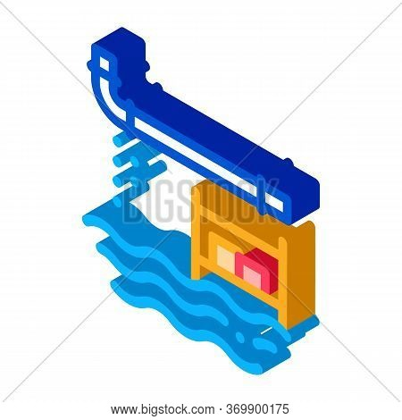 Pipe Punching Icon Vector. Isometric Pipe Punching Sign. Color Isolated Symbol Illustration
