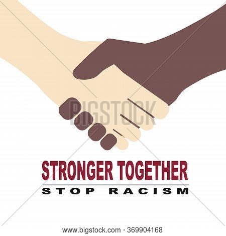 Big Set  Black Lives Matter And  I Can't Breathe Concept. Vector Illustration,  Two Hands Holding, P