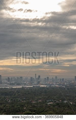 Bangkok, Thailand - May 29, 2020 : Sky View Of Bangkok With Skyscrapers In The Business District In