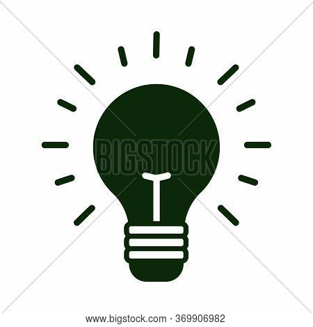 Black Light Icon, Isolated Light Icon On A White Background. Trendy Light Icons And Modern Light Sym