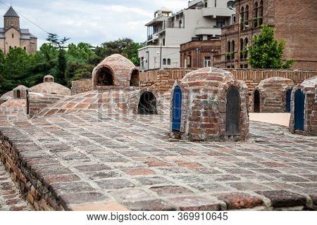 The Brick Roof Of The Sulphur Baths
