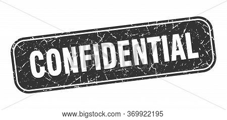 Confidential Stamp. Confidential Square Grungy Black Sign.