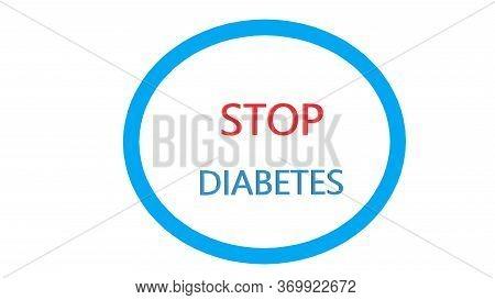 Diabetes Awareness. Stop Diabetes. World Day Diabetes, Medical 3d Image. Medical Concept. Modern Sty