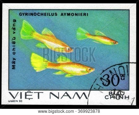 Saint Petersburg, Russia - May 31, 2020: Postage Stamp Issued In The Vietnam With The Image Of The S