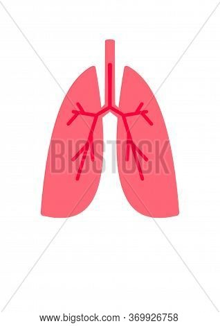 World Pulmonary Hypertension Day. Illustration On The Topic Of Lungs And Lung Disease.