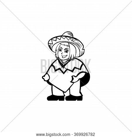 Cowboy Women Vector ,cartoon Vector Icon Isolated On White Background  Cowboy Women.