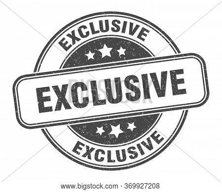 Exclusive Stamp. Exclusive Round Grunge Sign. Label