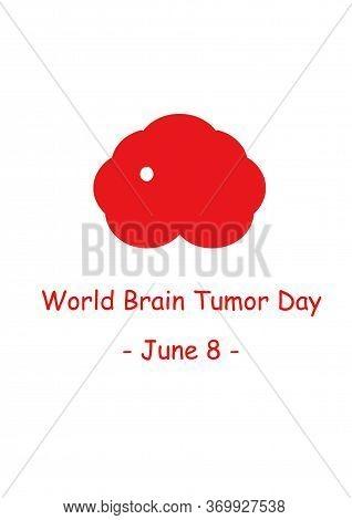 Brain Cancer Logo. Modern Style Logo Illustration For June Awareness Companies. World Brain Tumor Da