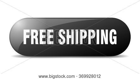 Free Shipping Button. Free Shipping Sign. Key. Push Button.