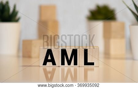 Aml Acute Myeloid Leukemia Acronym On Colorful Wooden Cubes