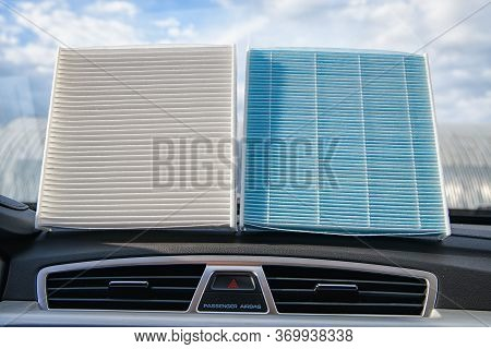 Various Filters Of A Car Air Conditioner