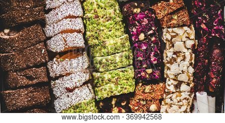 Turkish Traditional Lokum Sweet Delight Wallpaper, Texture, Background