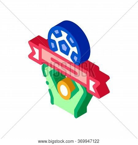 Soccer Above All Icon Vector. Isometric Soccer Above All Sign. Color Isolated Symbol Illustration