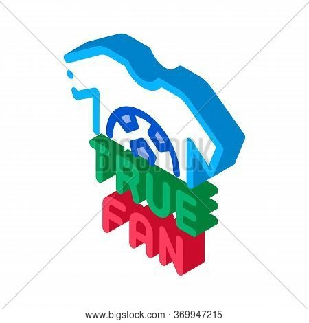 T-shirt True Fan Icon Vector. Isometric T-shirt True Fan Sign. Color Isolated Symbol Illustration