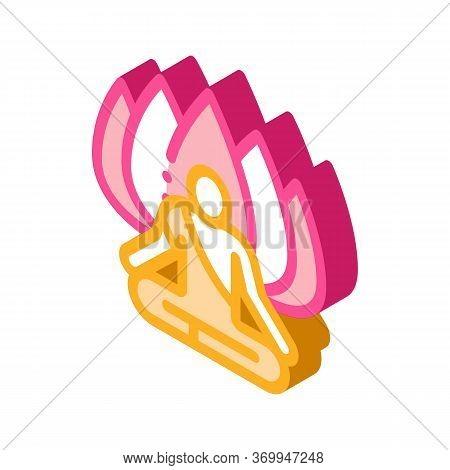Shaman Of Meditation Icon Vector. Isometric Shaman Of Meditation Sign. Color Isolated Symbol Illustr