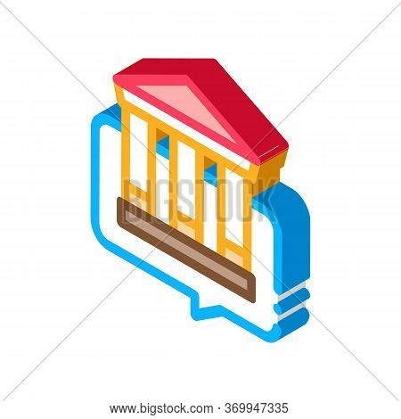 Story About Monument Of Architecture Icon Vector. Isometric Story About Monument Of Architecture Sig