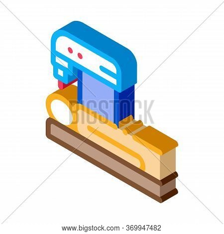 People Treatment Machinery Icon Vector. Isometric People Treatment Machinery Sign. Color Isolated Sy