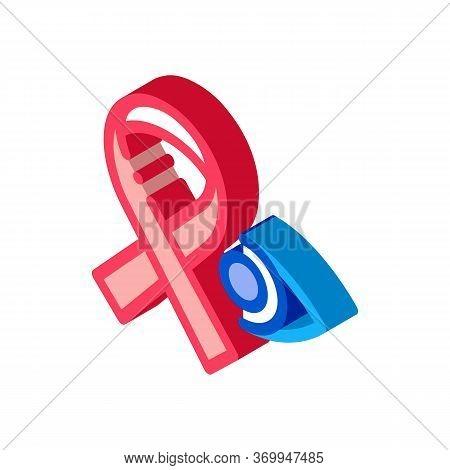 National Glaucoma Awareness Icon Vector. Isometric National Glaucoma Awareness Sign. Color Isolated