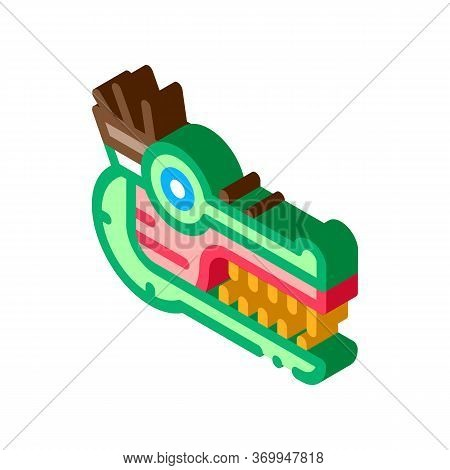 Sacred Totem Animal Head Icon Vector. Isometric Sacred Totem Animal Head Sign. Color Isolated Symbol