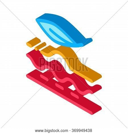 Smoothing Problem Areas Of Skin Icon Vector. Isometric Smoothing Problem Areas Of Skin Sign. Color I