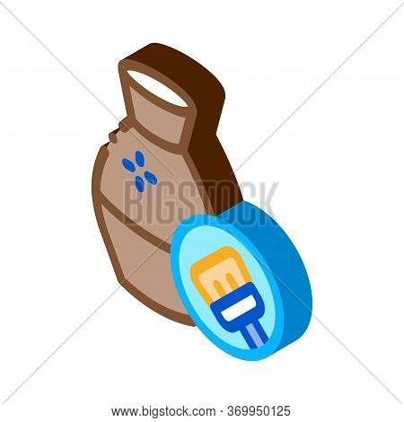 Clay Vase Cleansing Icon Vector. Isometric Clay Vase Cleansing Sign. Color Isolated Symbol Illustrat