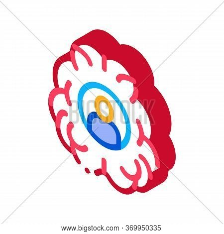 Human Brainstorming Icon Vector. Isometric Human Brainstorming Sign. Color Isolated Symbol Illustrat
