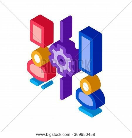 Different Resources Of People Icon Vector. Isometric Different Resources Of People Sign. Color Isola