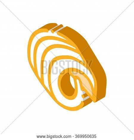 Butter Curl Icon Vector. Isometric Butter Curl Sign. Color Isolated Symbol Illustration