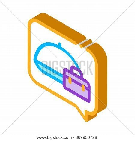 Business Lunch Icon Vector. Isometric Business Lunch Sign. Color Isolated Symbol Illustration