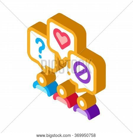 Different Demands Of People Icon Vector. Isometric Different Demands Of People Sign. Color Isolated