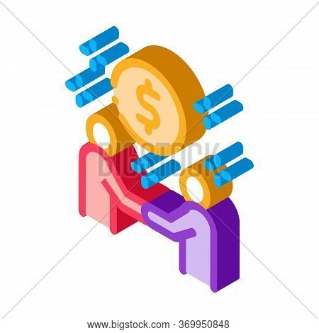 Money Making Deal Icon Vector. Isometric Money Making Deal Sign. Color Isolated Symbol Illustration