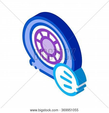 Tire Air Vent Icon Vector. Isometric Tire Air Vent Sign. Color Isolated Symbol Illustration