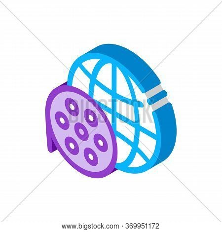World Recording Technology Icon Vector. Isometric World Recording Technology Sign. Color Isolated Sy