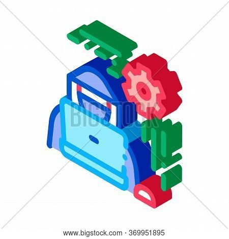 Settings Hacker Icon Vector. Isometric Settings Hacker Sign. Color Isolated Symbol Illustration