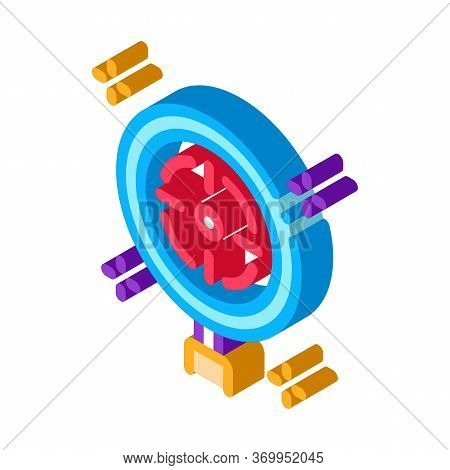Target Detection Icon Vector. Isometric Target Detection Sign. Color Isolated Symbol Illustration