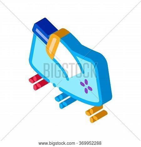 Refueling Gun Icon Vector. Isometric Refueling Gun Sign. Color Isolated Symbol Illustration