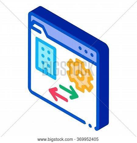 Technical Home Folder Icon Vector. Isometric Technical Home Folder Sign. Color Isolated Symbol Illus