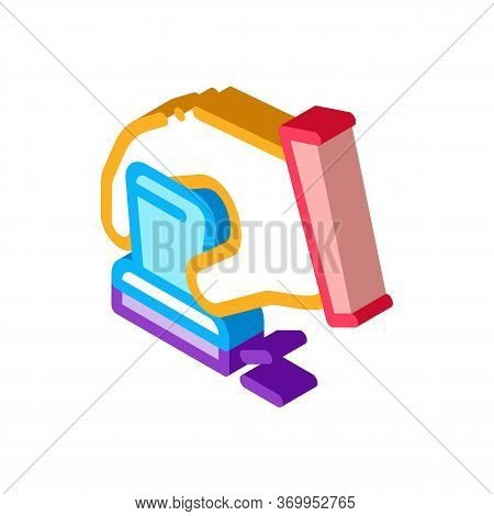 Hand Signet Court Icon Vector. Isometric Hand Signet Court Sign. Color Isolated Symbol Illustration