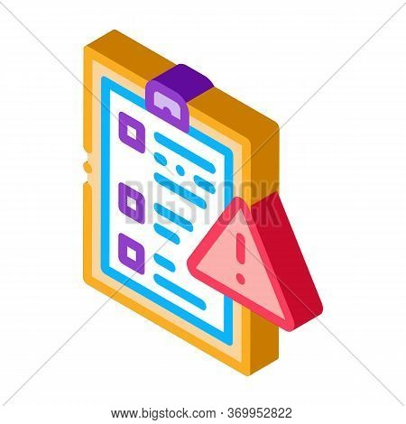 Court Statement Icon Vector. Isometric Court Statement Sign. Color Isolated Symbol Illustration